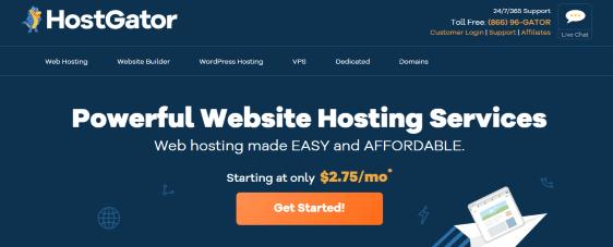 HostGator shared hosting