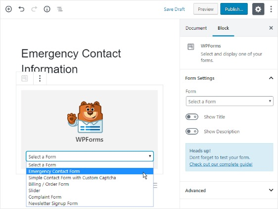 how to request emergency contact information from employees