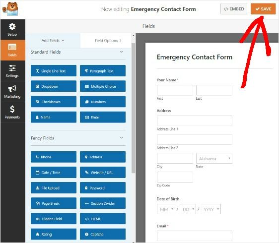 how-to-save-emergency-contact-information-in-wordpress