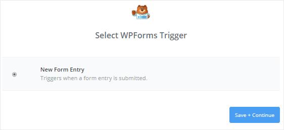 new form entry for trigger app