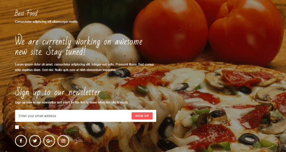 OceanWP theme coming soon demo