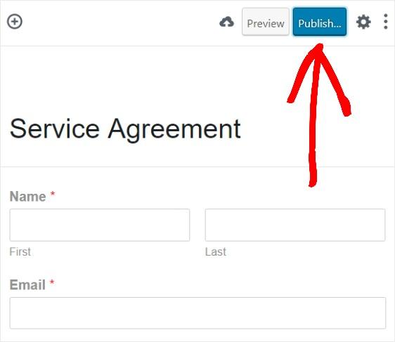 publish wordpress online contract