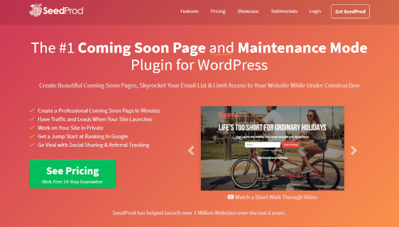 SeedProd coming soon plugin WordPress
