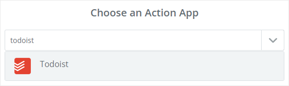 Todoist as action app
