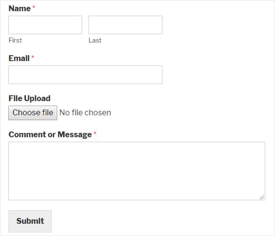 WPForms file upload form