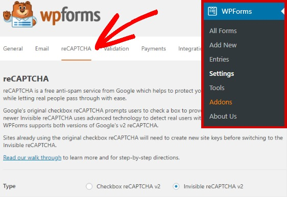 wpforms-recaptcha-settings-invisible
