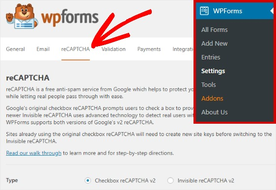 wpforms-recaptcha-settings-tab