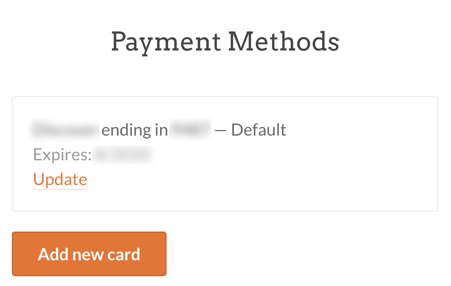 Payment Methods in WPForms account