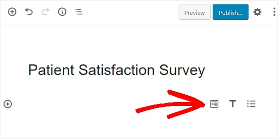add patient satisfaction survey to new page