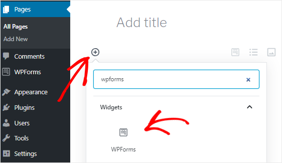Add WPForms block to video upload page