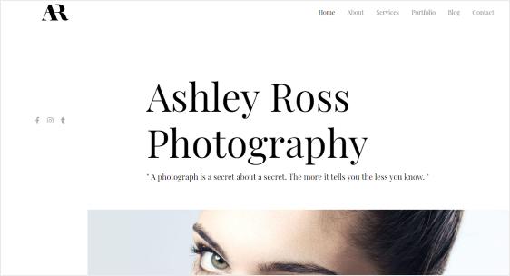 Astra stylish portfolio WordPress theme