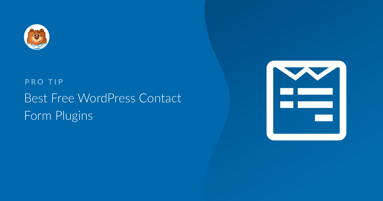 best free contact form plugin for wordpress