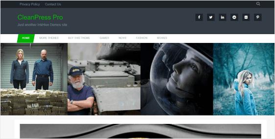 CleanPress premium responsive WordPress theme