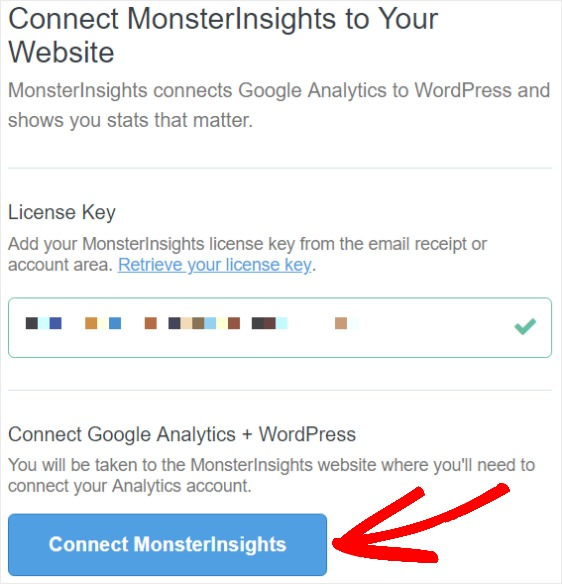 connect google analytics to monsterinsights