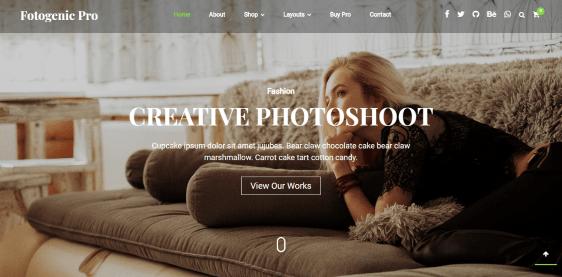Fotogenic Pro photography WordPress theme