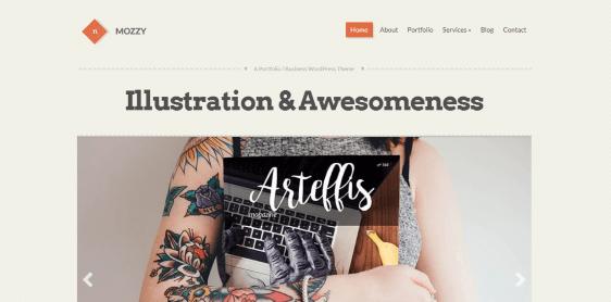 Mozzy customizable theme