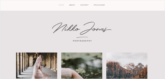 Nikko Portfolio feminine theme