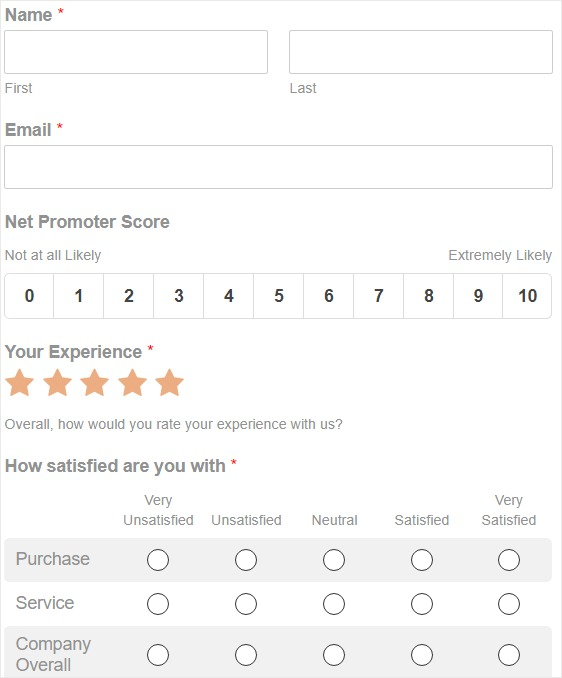 nps survey analysis simple form for how to create nps survey form in WordPress