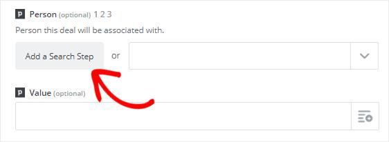 Person field add a search step