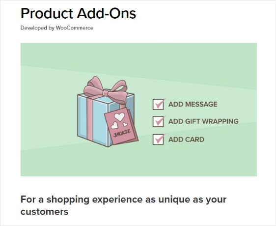 product add ons