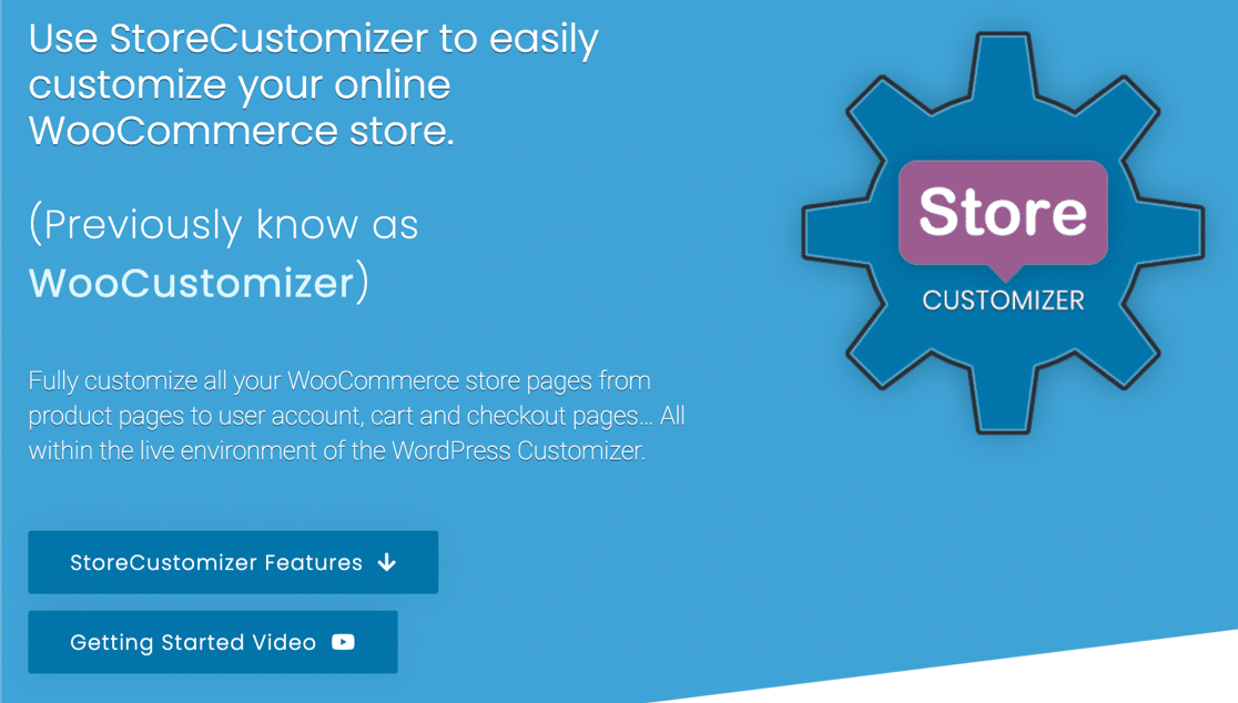 StoreCustomizer plugin for WooCommerce