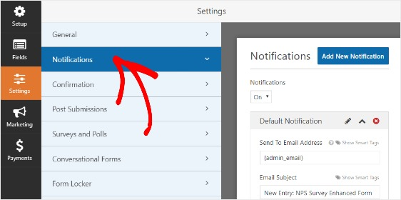 how to create nps survey form in WordPress with notifications