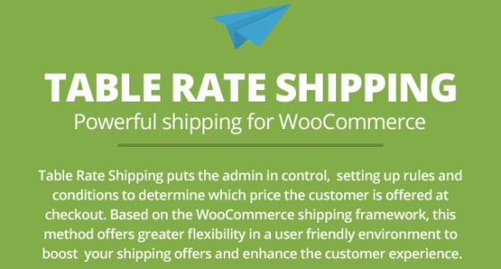 table rate shipping customization options