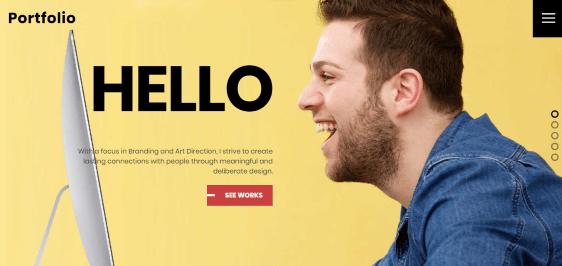 Ultra powerful theme for portfolio sites