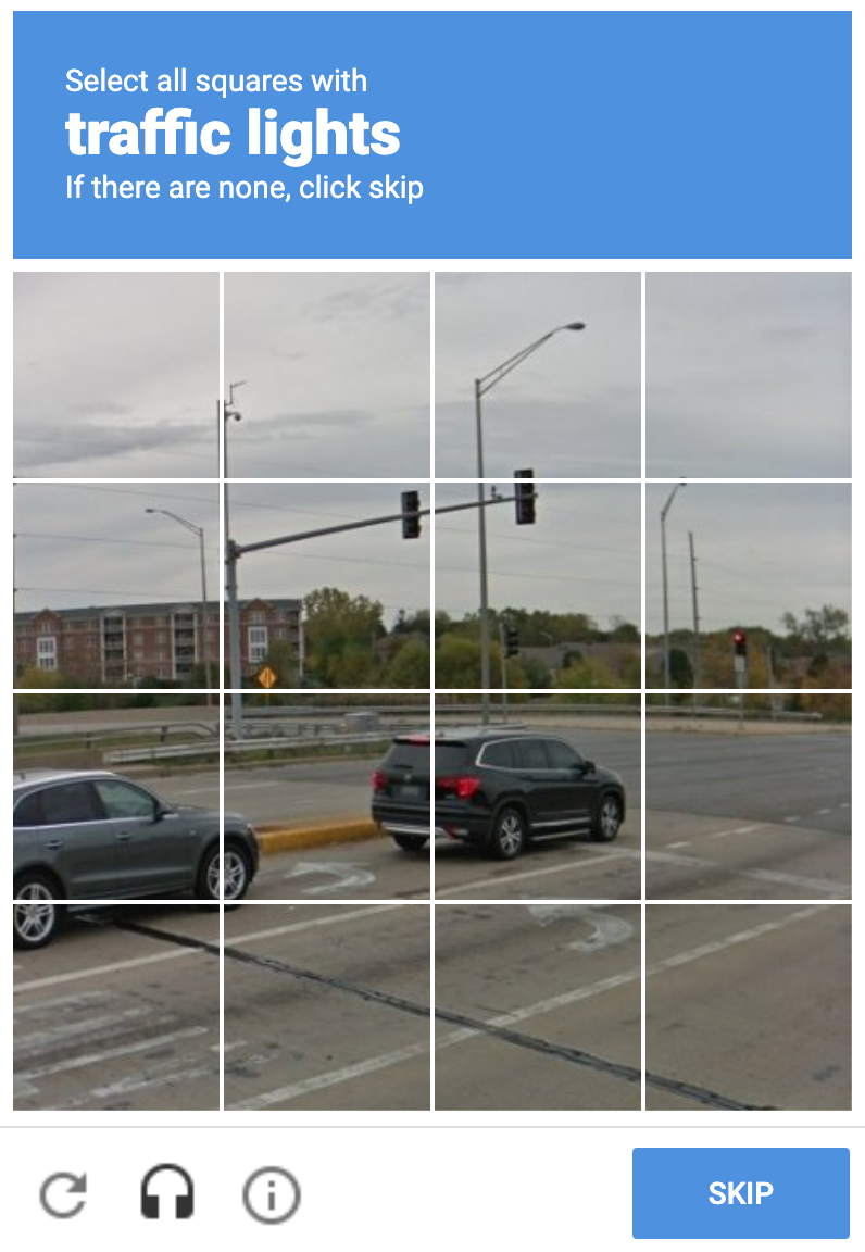 Example of v2 reCAPTCHA