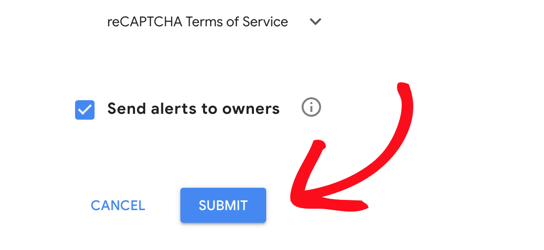 Submit reCAPTCHA registration form