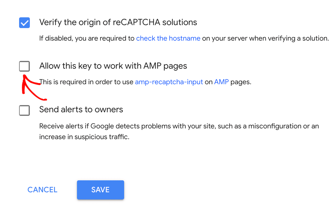 Allowing reCAPTCHA on AMP pages