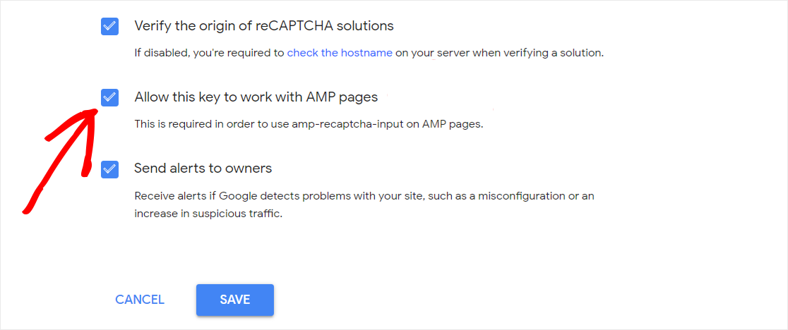 Allow reCAPTCHA to work with AMP pages