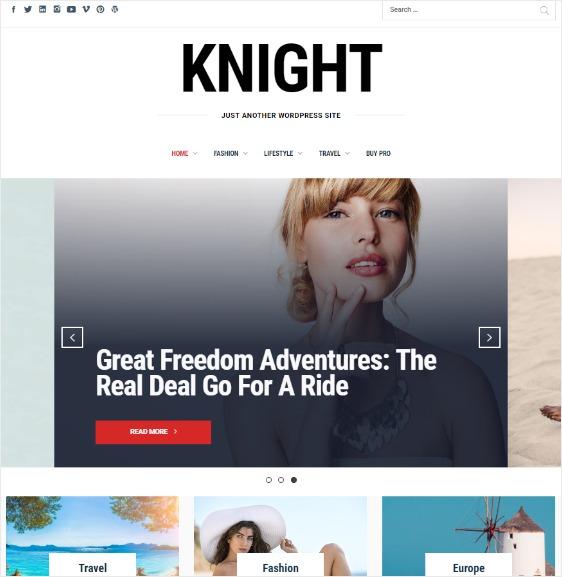 blog layouts knight theme
