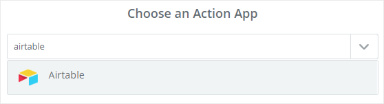 Choose Airtable as an Action App