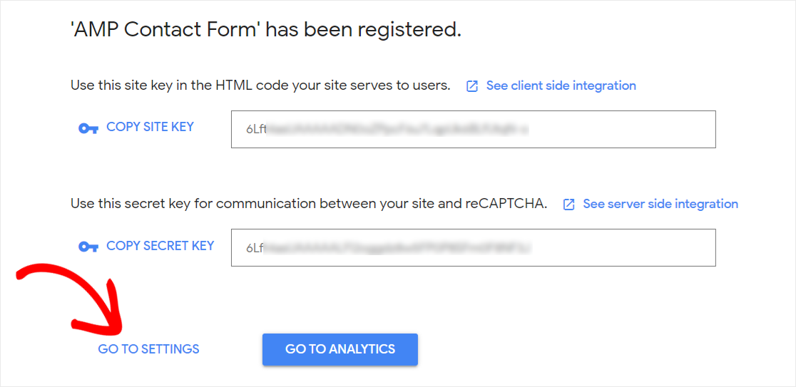 Copy site and secret key