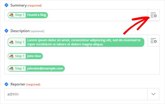 Create Jira issues template