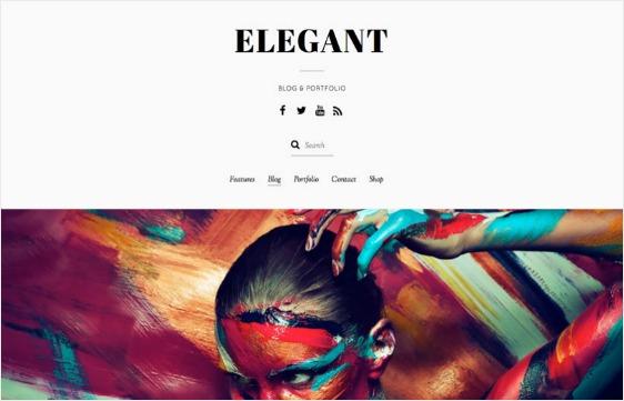 elegant web design theme offers