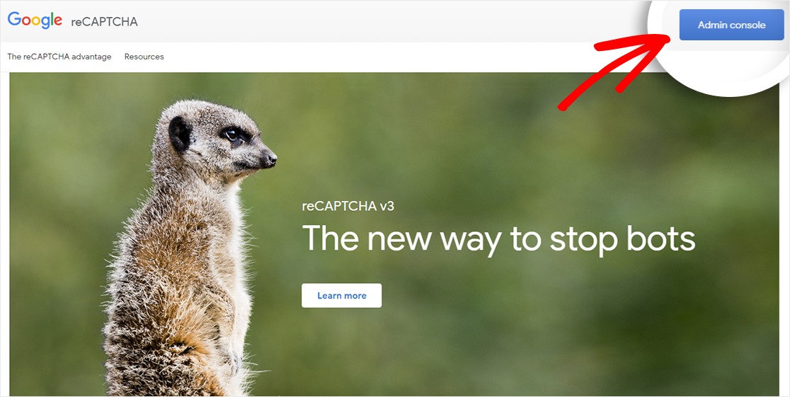 Google reCAPTCHA website