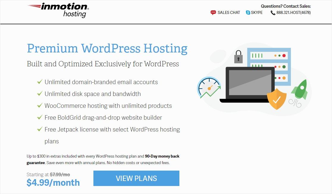 inmotion hosting customer service