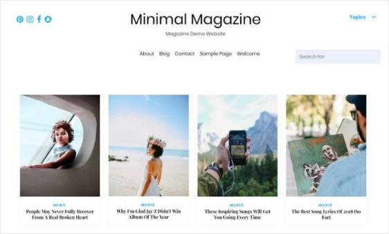 minimalist design portfolio website