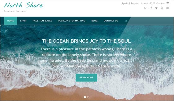 modern design blog page