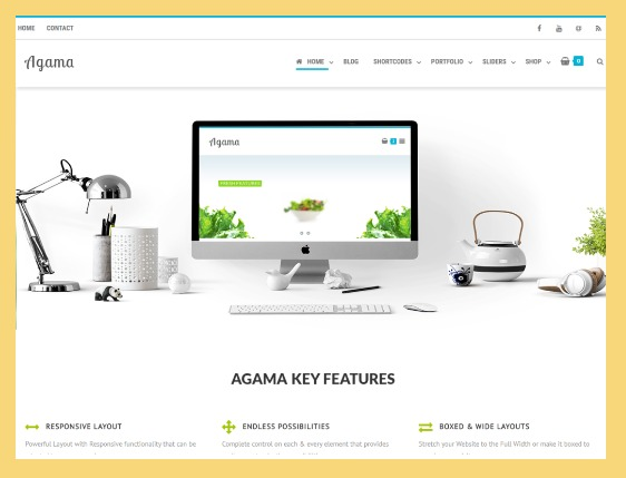 multipurpose themes with responsive design