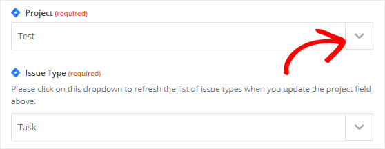 Set up template to create Jira issues