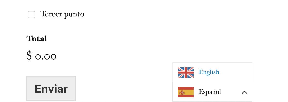 WeGlot translations on front end form