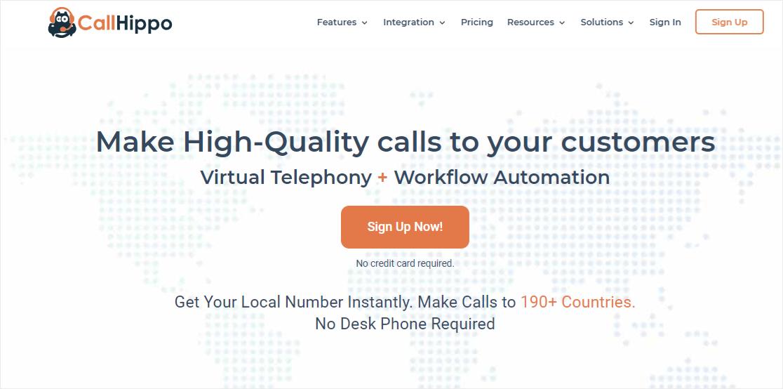 CallHippo internet business phone system