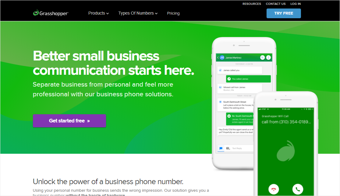 GrassHopper internet business phone system