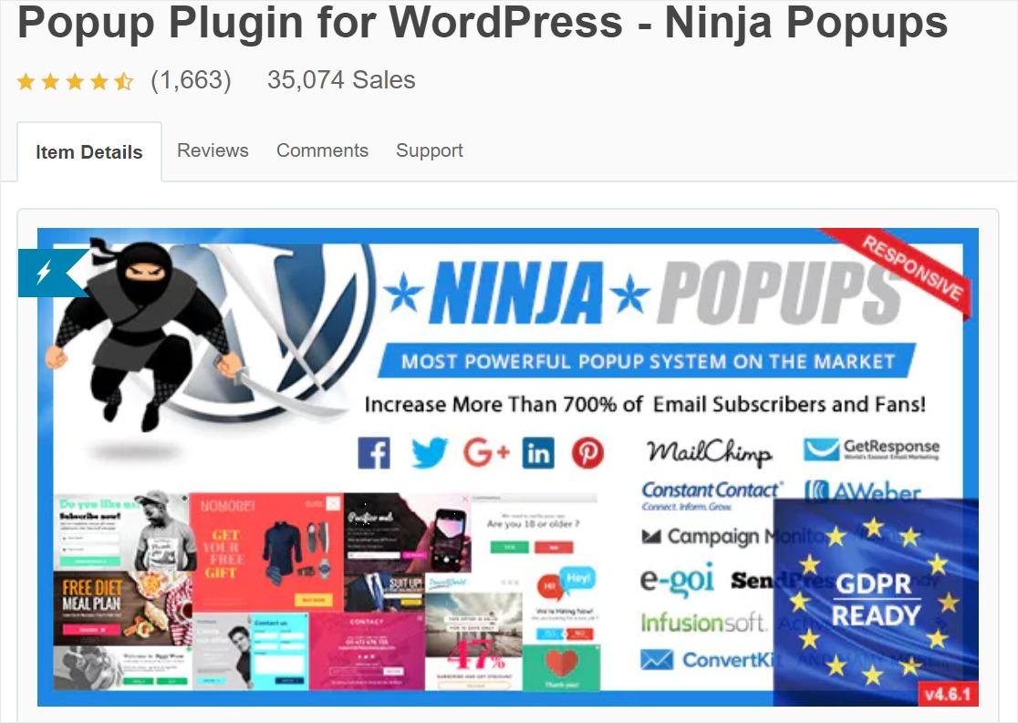 ninja forms create popups