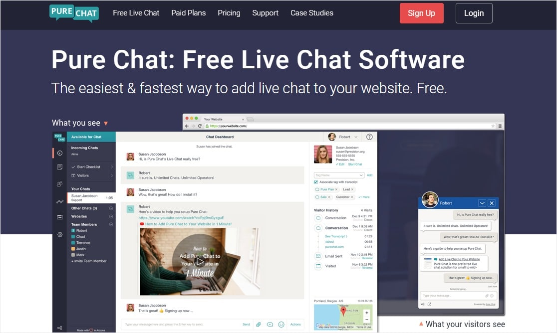 pure chat live proactive chat solutions