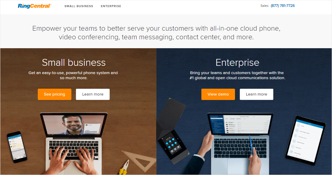 RingCentral Business VoIP service