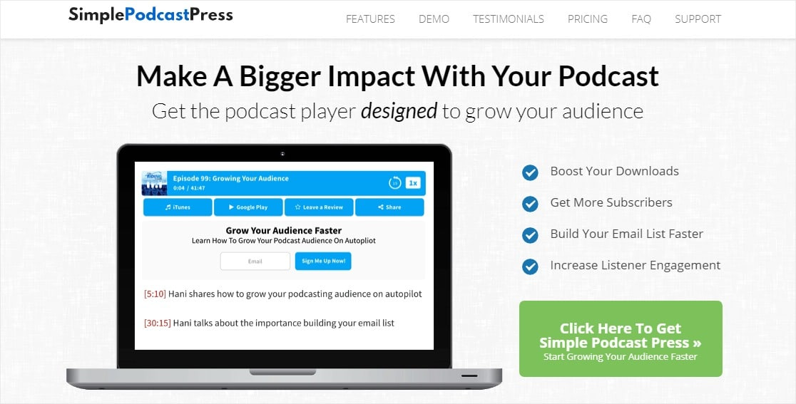 simple podcast press podcast hosting